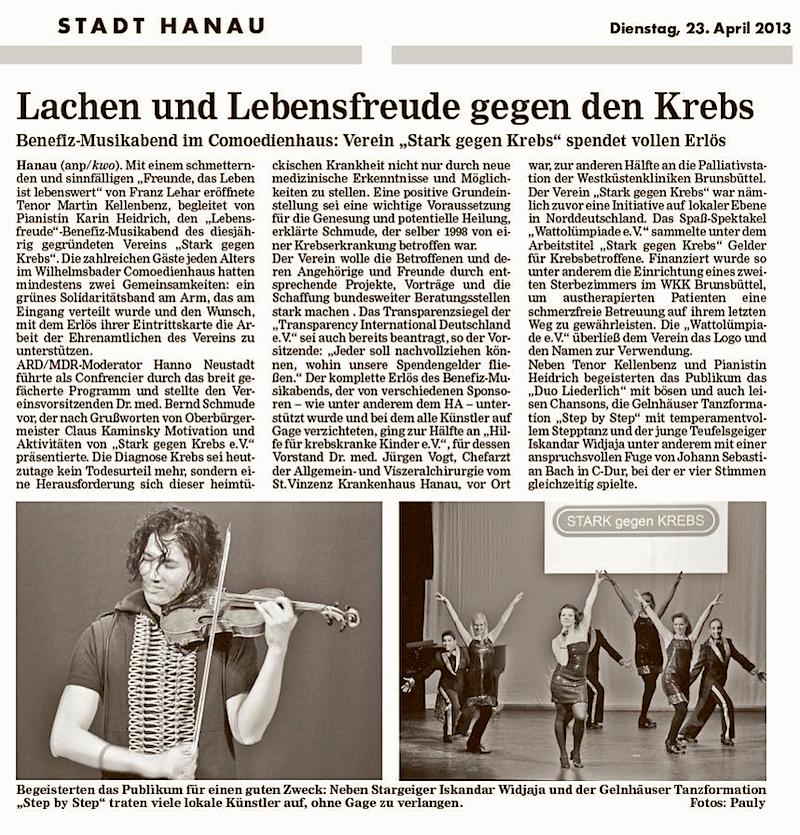 Hanauer Anzeiger vom 23.04.2013