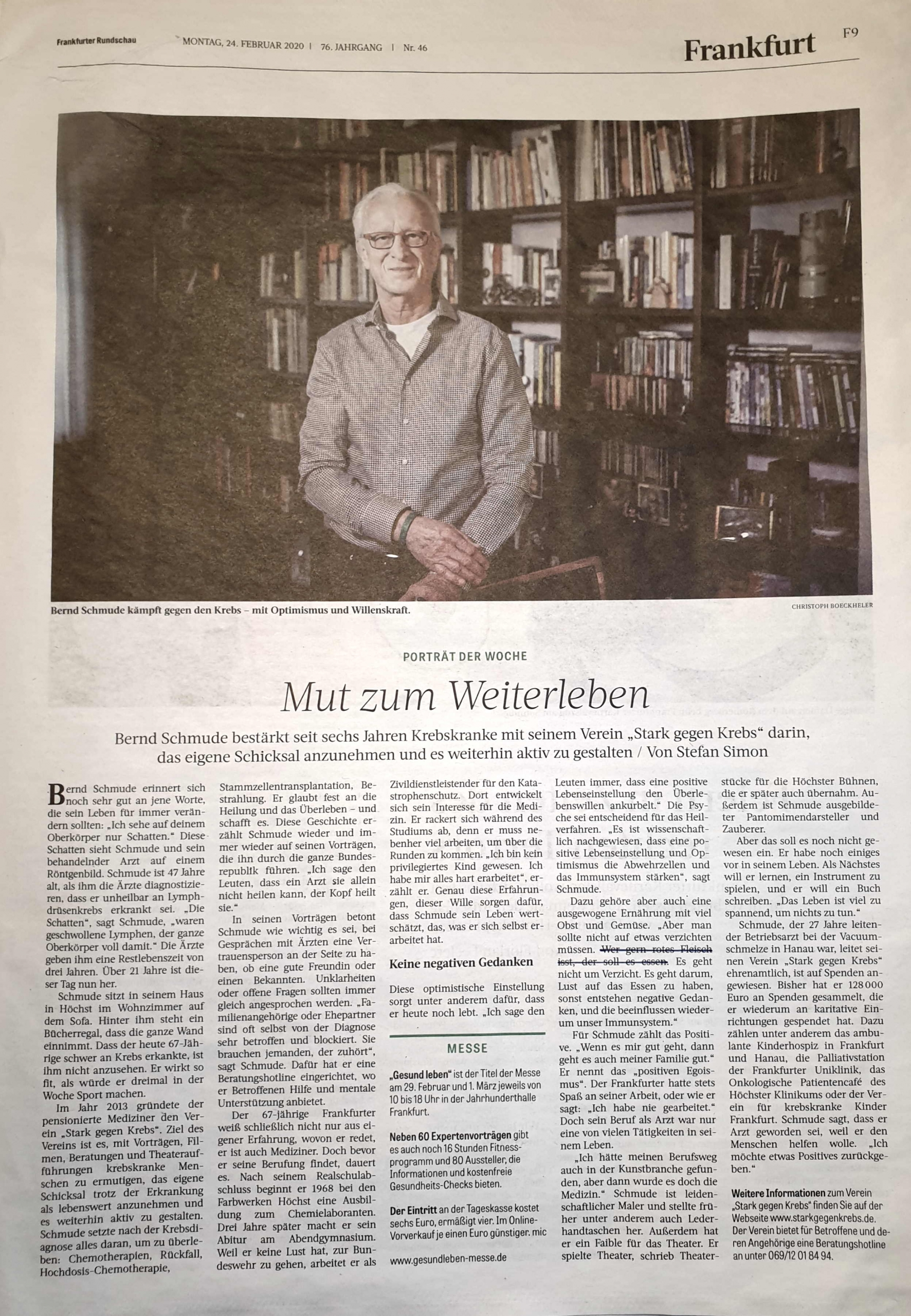 Frankfurter Rundschau Artikel vom 24.02.2020